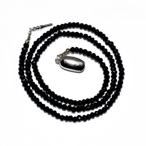 Black Onyx Beaded 1 Strand Necklace