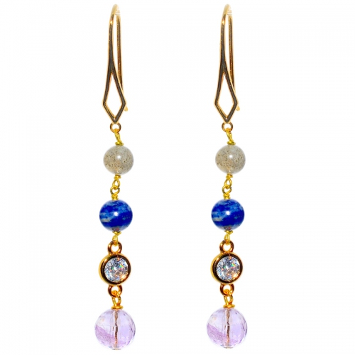 Mix Gemstone Gradual Earring