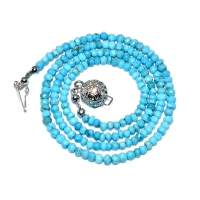 Turquoise Beaded 1 Strand Necklace