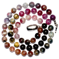 Tourmaline 7.5MM Cabochon  Necklace