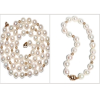 Japanase Akoya Baroque Pearl 6.5-7MM Gold Beads Set