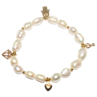 Fresh Water Pearl Charm Bracelet - White