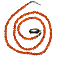 Carnelian Beaded 1 Strand Necklace