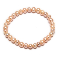 Fresh Water Pearl Simple 5.5-6MM Elastic Bracelet