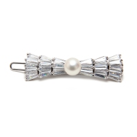 Fresh Water Pearl Bow Barrette