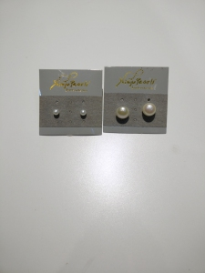 Fresh Water Pearl Earring 925 Set (4-5mm & 9-10mm)