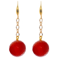 Red Agate Single Dangle Earring