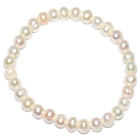 Fresh Water Pearl Simple 6-6.5 Elastic Bracelet